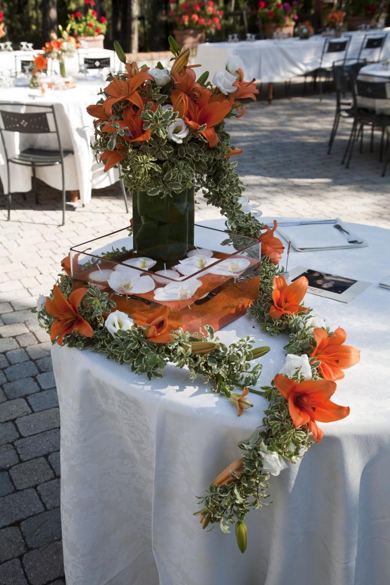 Matrimonio In Bianco : Matrimonio bianco arancio