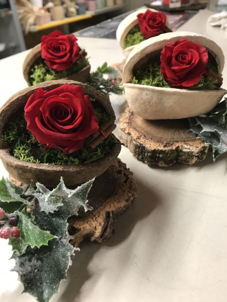 Rose stabilizzate natalizie